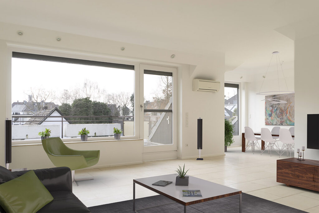 Wohnung mit digitalem Home Staging